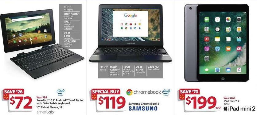 Walmart Black Friday Ad Features 199 Apple Ipad Mini 2 119 Chromebook Deals Tech Digital Review